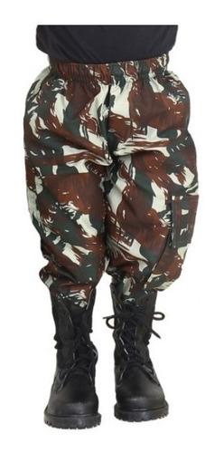 calça infantil camuflada calça unissex tático criança