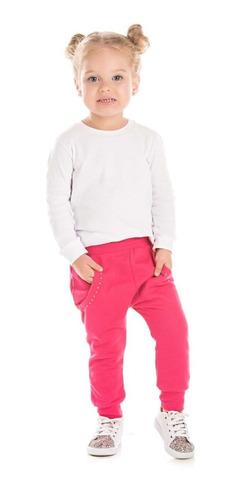 calça infantil em moletom felpado para menina