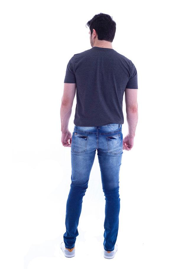 3909a154a144d Calça Jeans Abraham Max Denim Masculino 10321-15 - R$ 109,90 em ...