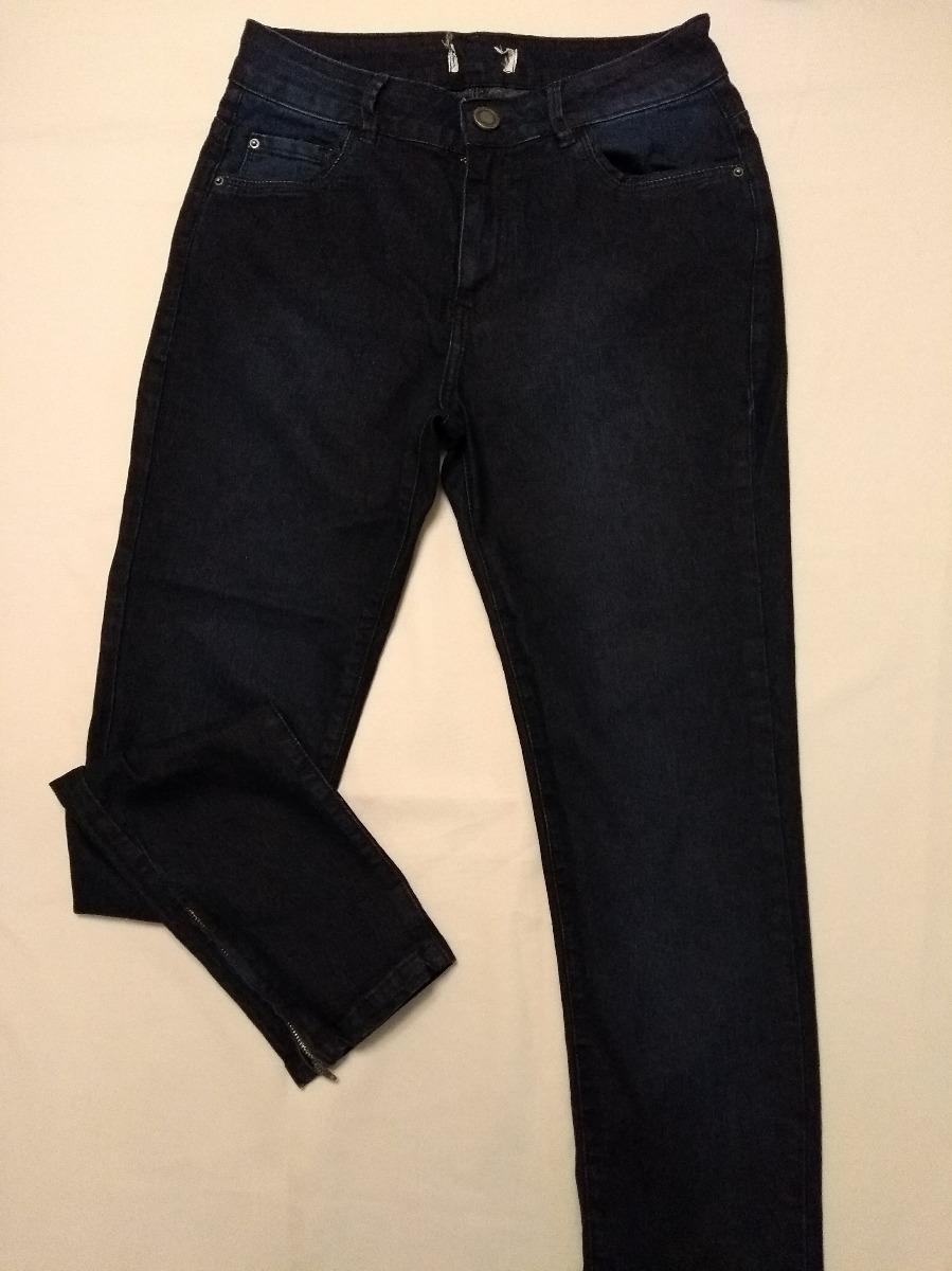 b2cd25254 calça jeans azul escuro com detalhe zíper barra tam 40! nova. Carregando  zoom.