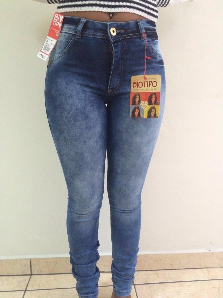 28cee19ba calça jeans biotipo skinny feminina cintura alta. Carregando zoom.