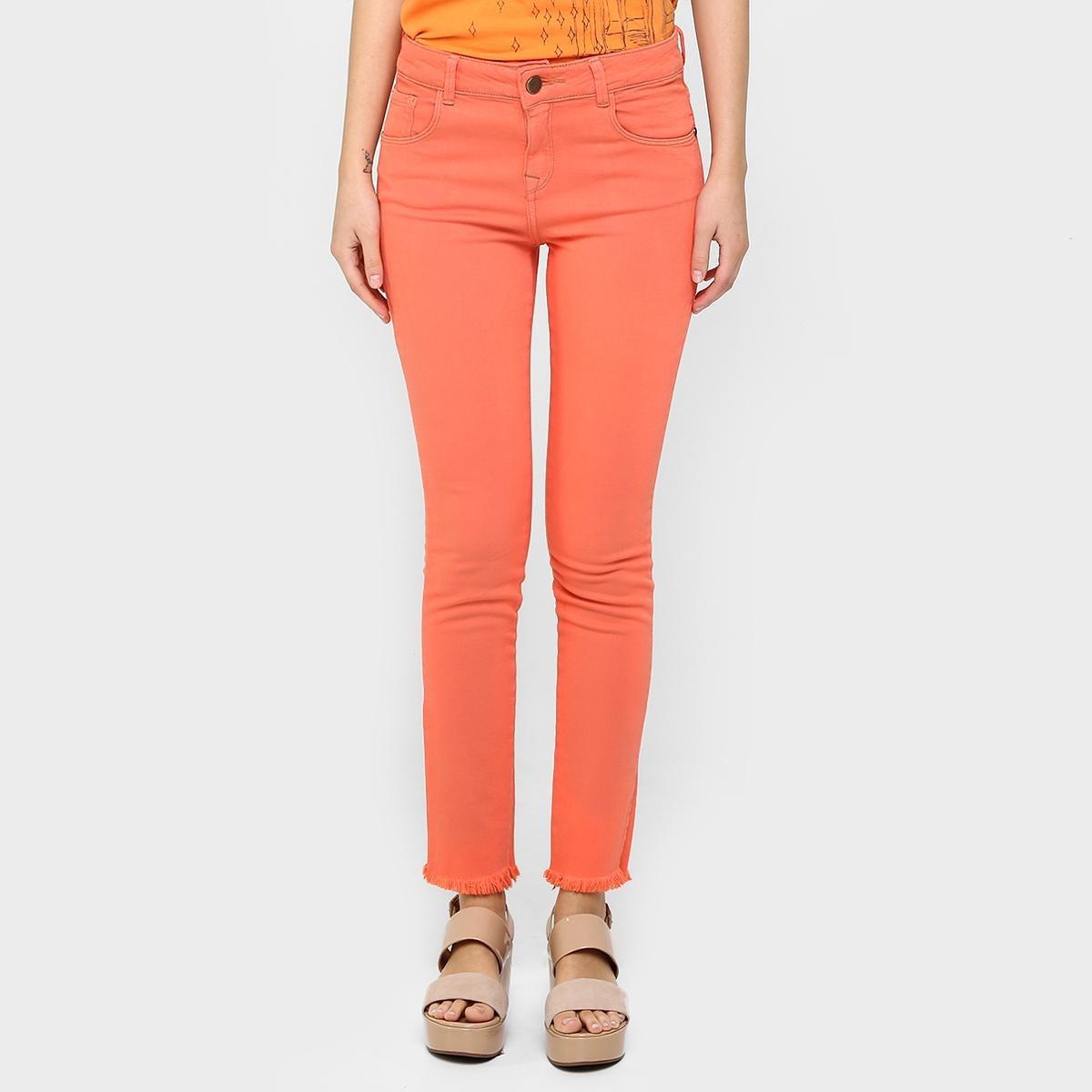 b3e48346c Calça Jeans Cantão Skinny Desfiada Barra - R$ 134,99 em Mercado Livre