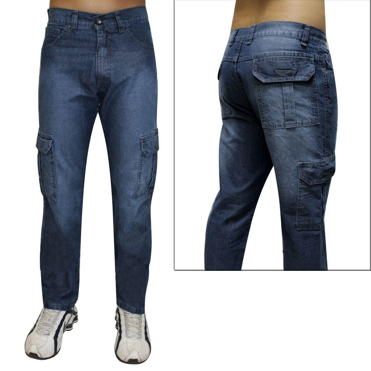 3fcb9f9ac calça jeans cargo masculina - direto da fábrica. Carregando zoom.