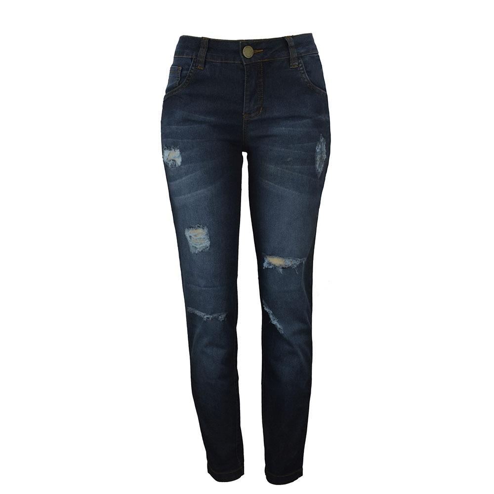 43ffeeb0f calça jeans cigarrete com rasgos justa feminina knt 231141. Carregando zoom.