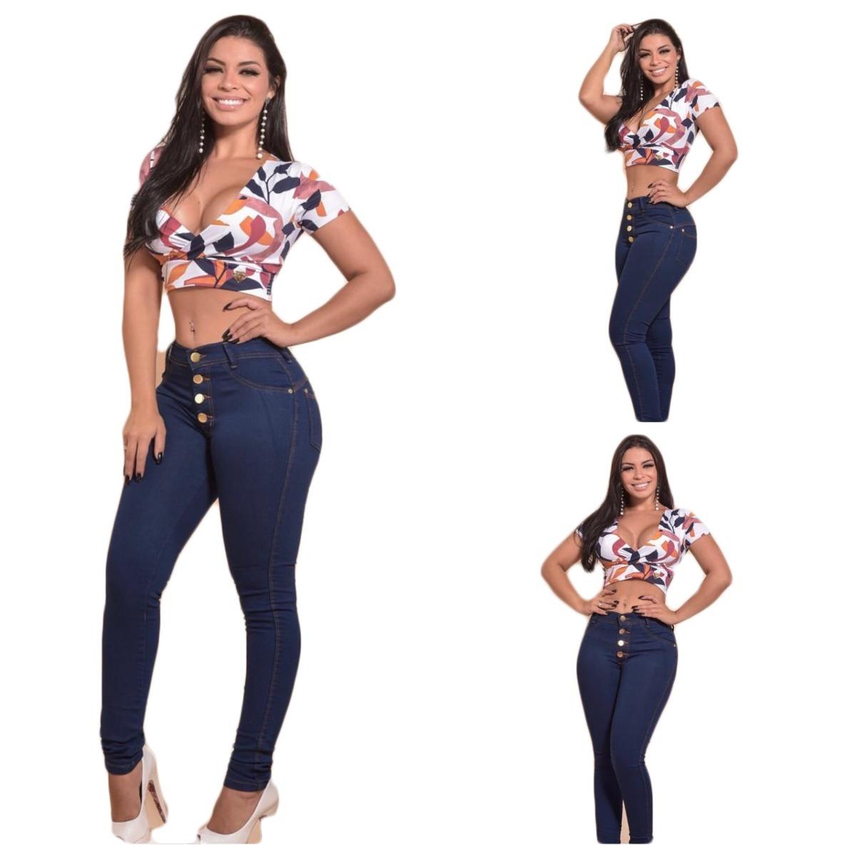 e34473688 calça jeans cintura alta feminina hot pants levanta bumbum. Carregando zoom.