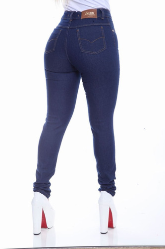 calça jeans cintura alta feminina levanta bumbum com lycra