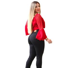 40000697c Calça Jeans Cintura Alta Hot Pants Com Lycra Marca Ix35jeans