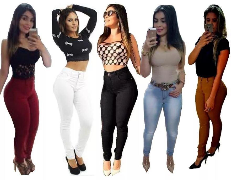 fcbc1bebf calça jeans cintura alta hot pants levanta bumbum + calcinha. Carregando  zoom.