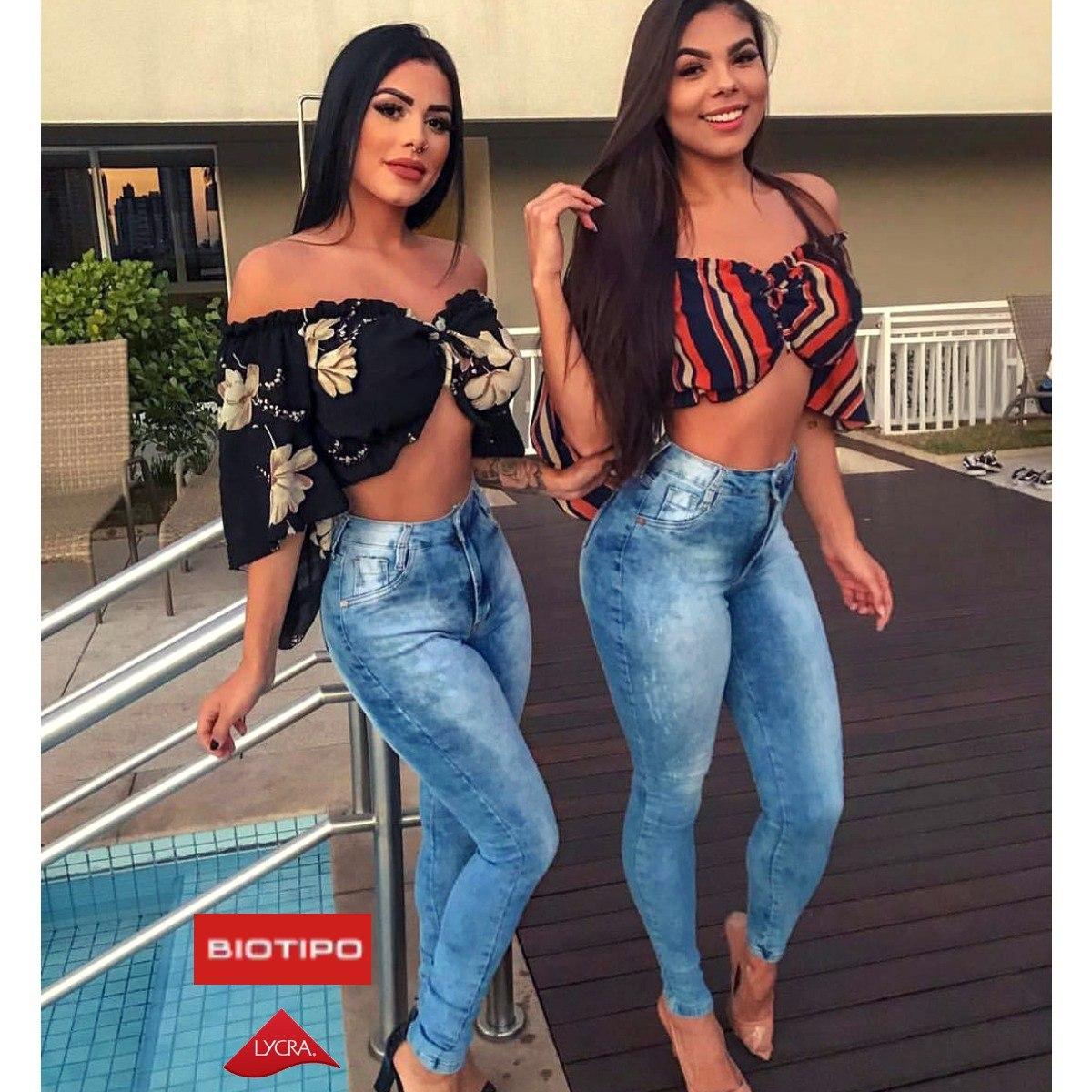 dcd8311c3 calça jeans cintura alta hot pants levanta bumbum moda. Carregando zoom.