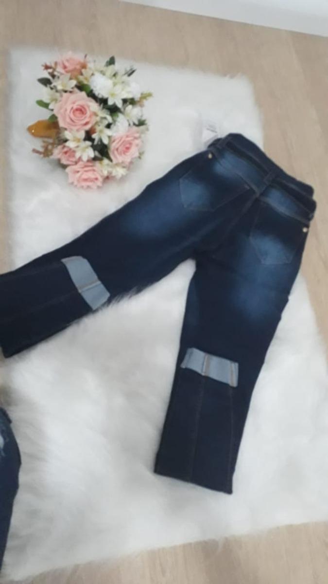 dcc32e671 Calça Jeans Clochard Cintura Alta Barra Dobrada - R$ 119,99 em ...
