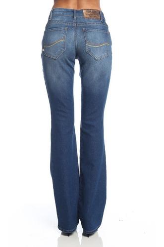 calça jeans coca-cola flare cintura média 23202449 original