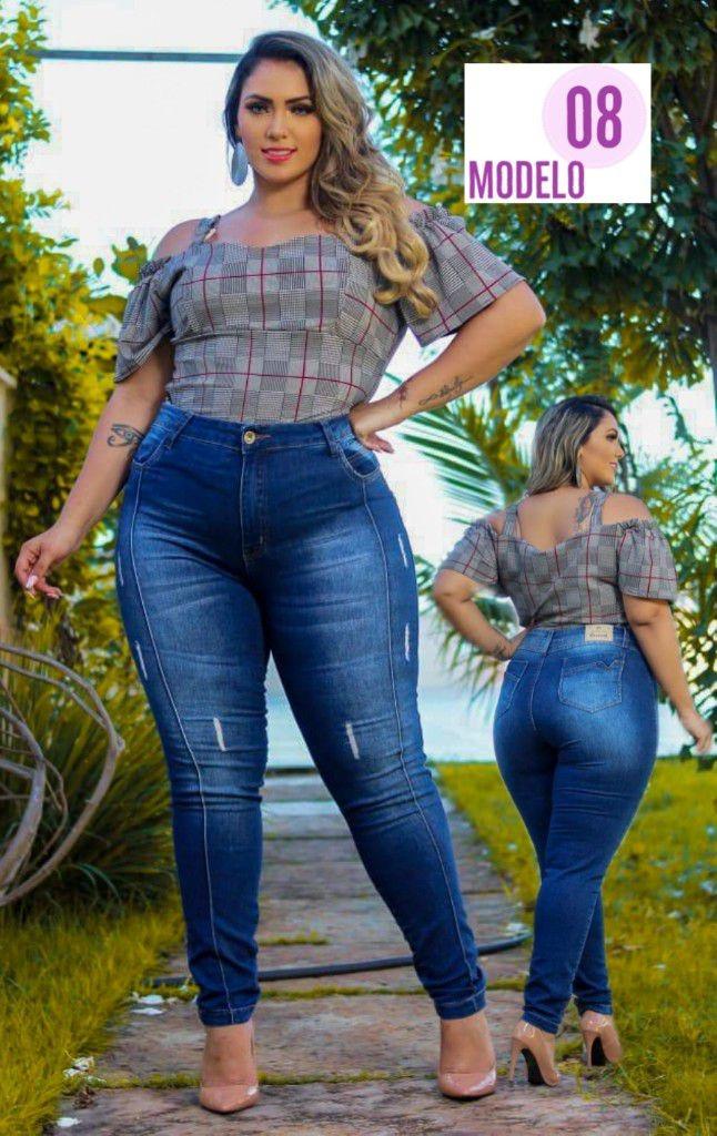 ec545a758c64 calça jeans com elastano plus size moda gg fashion lux ref 8. Carregando  zoom.