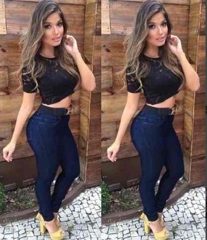 6b8e9246d Calça Jeans Cós Alto Hot Pant Levanta Bumbum Moda Feminina - R$ 64 ...