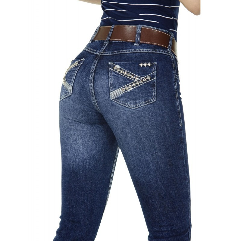 calça jeans country feminina radade cf tacks boot cut. Carregando zoom. f54d099a8b6