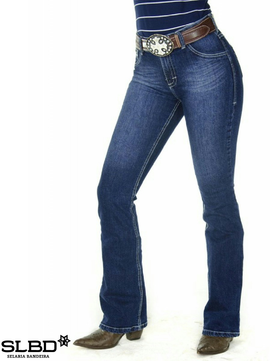 0959a7b375048 calça jeans country feminina radade cf tacks boot cut. Carregando zoom.