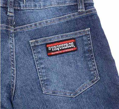 Calça Jeans Country Os Vaqueiros Feminina Amaciada - R  149 d056c035947