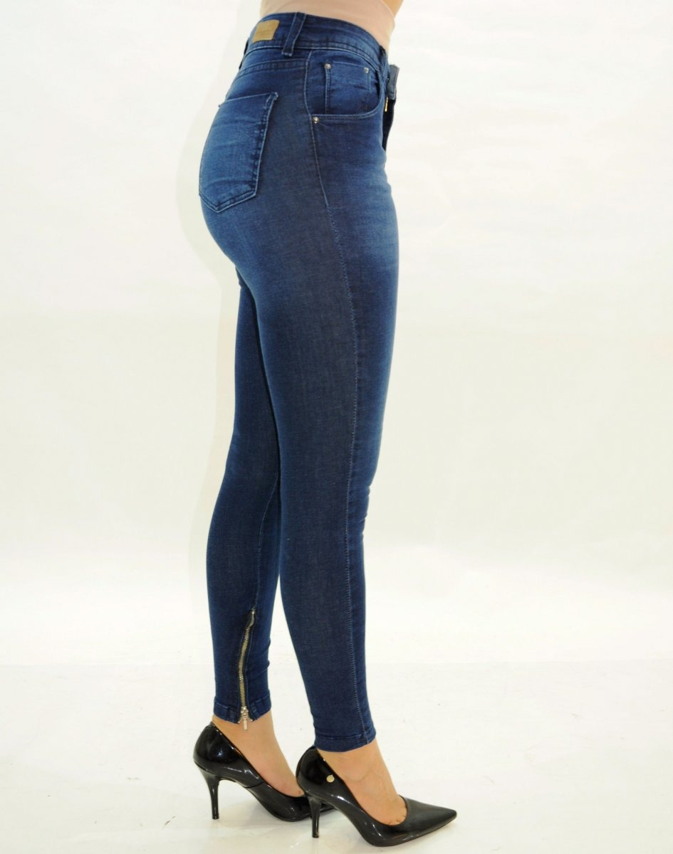 a94918094 Calça Jeans Dardak Skinny Feminina Com Zíper Na Barra - R$ 129,90 em ...