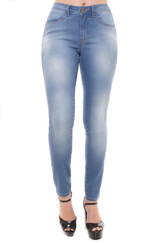 df2a8c4eb calça jeans cigarrete mid rise skinny denúncia azul. Carregando zoom... calça  jeans denúncia. Carregando zoom.