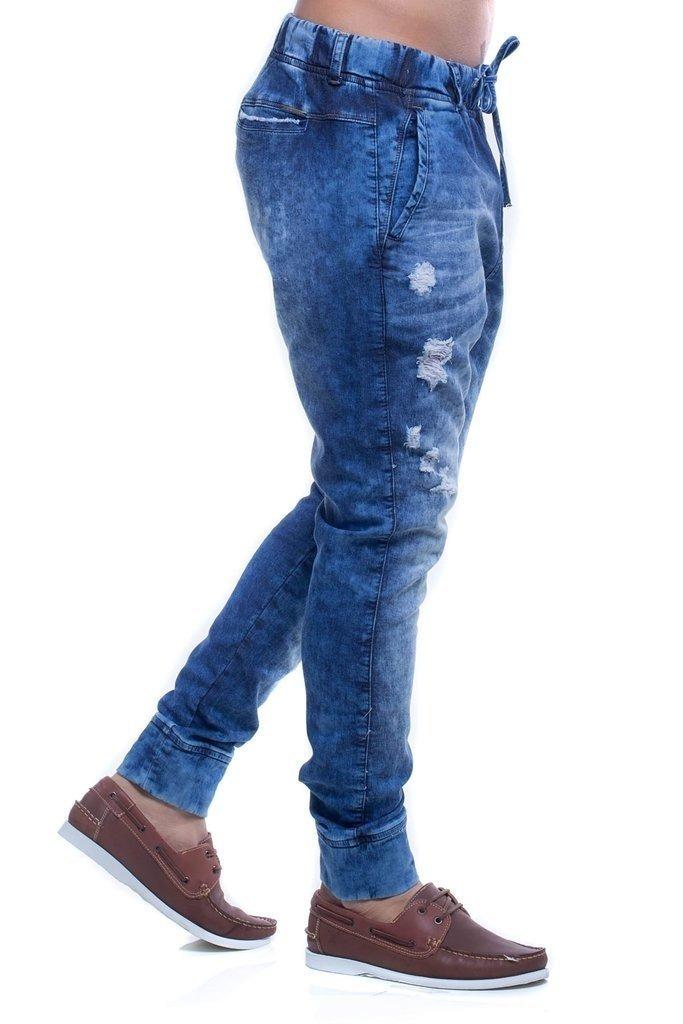 ceb071f79 Calça Jeans Denuncia Jogg Skinny Azul - R$ 200,94 em Mercado Livre