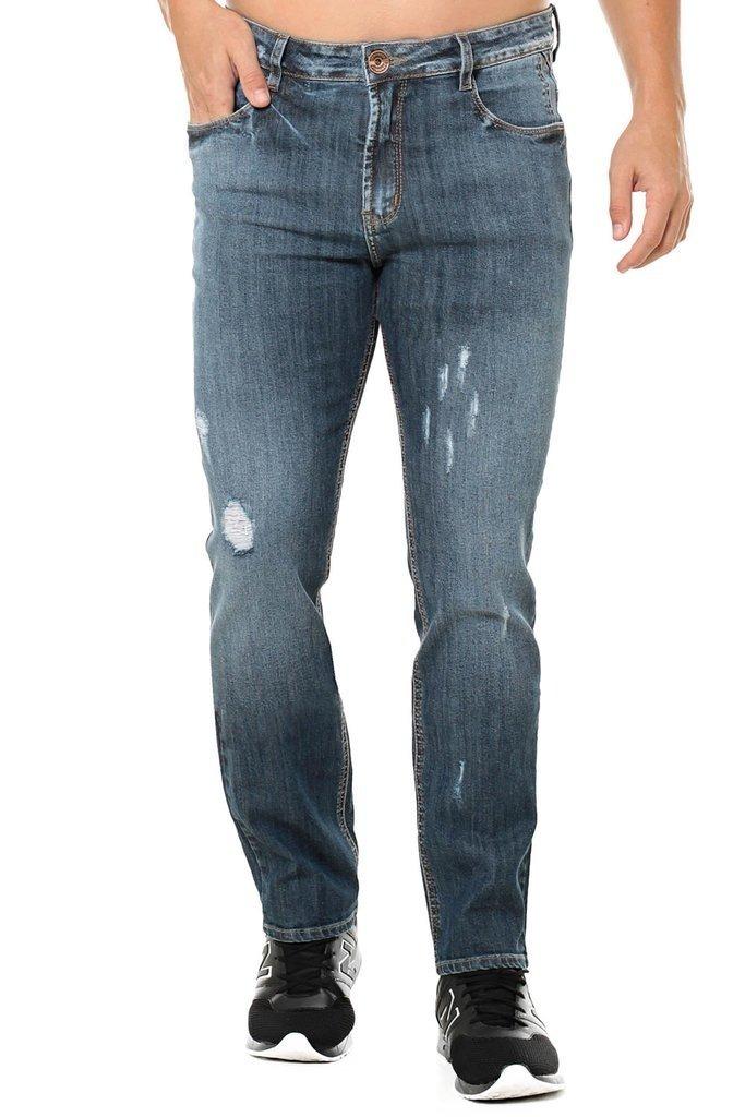 017192265 Calça Jeans Denuncia Slim Fit Azul - R$ 79,90 em Mercado Livre