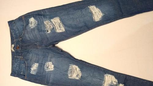 calça jeans destroyed tam 40 ref 0158