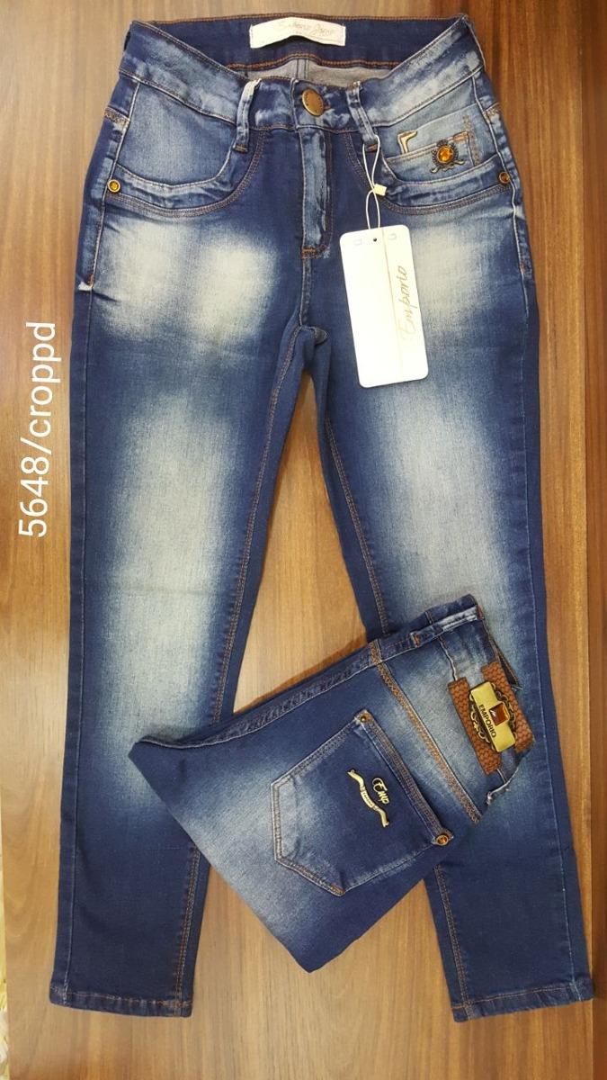 683b97c99 Calça Jeans Croppd Empório, Cós Médio, Com Elastano. - R$ 179,90 em ...