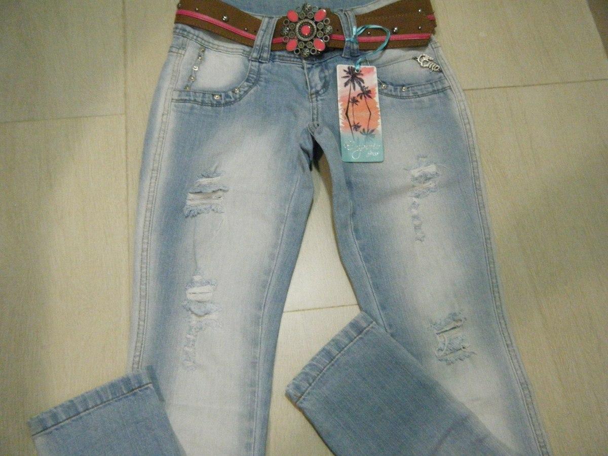 e05f5ec80 Calça Jeans Feminina Emporio Jeans, Com Cinto. - R$ 129,90 em ...