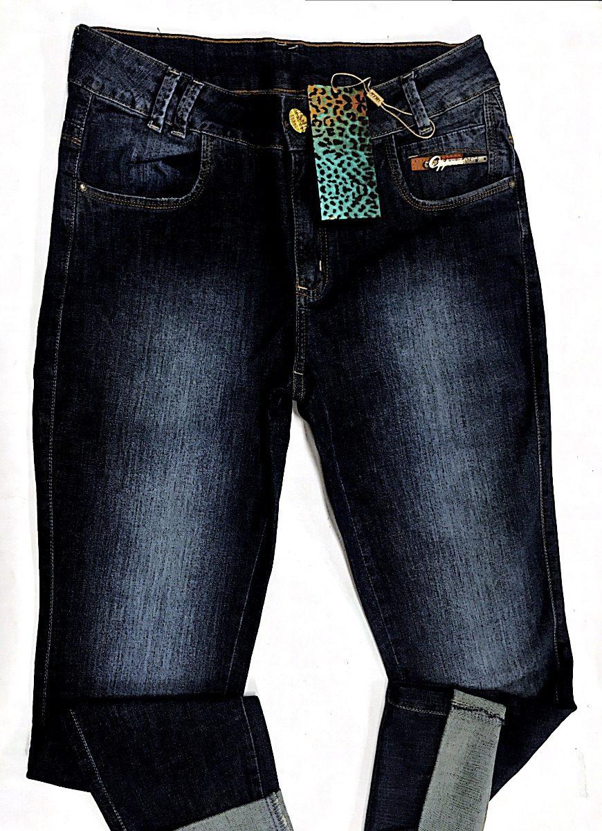 28bc1d42f calça jeans escuro lycra oppnus skinny cos alto 4 bolsos. Carregando zoom.