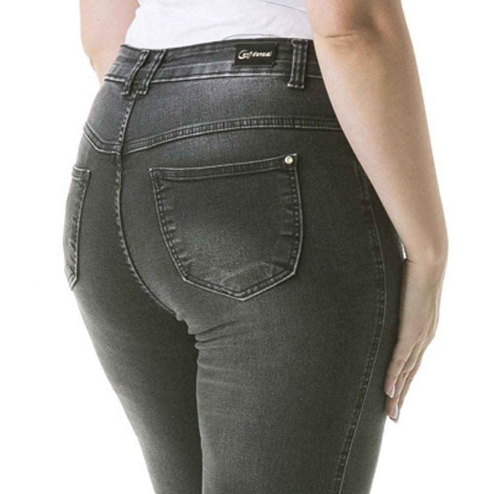 a9861ce90f calça jeans feminina barra assimétrica plus size - caj194. Carregando zoom.