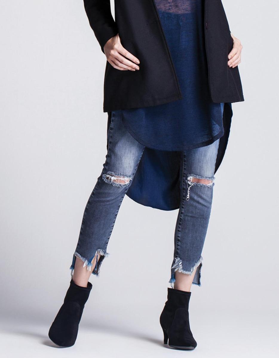 cd7a4fa08 Calça Jeans Feminina Bordado Girl Gang Barra - R  199