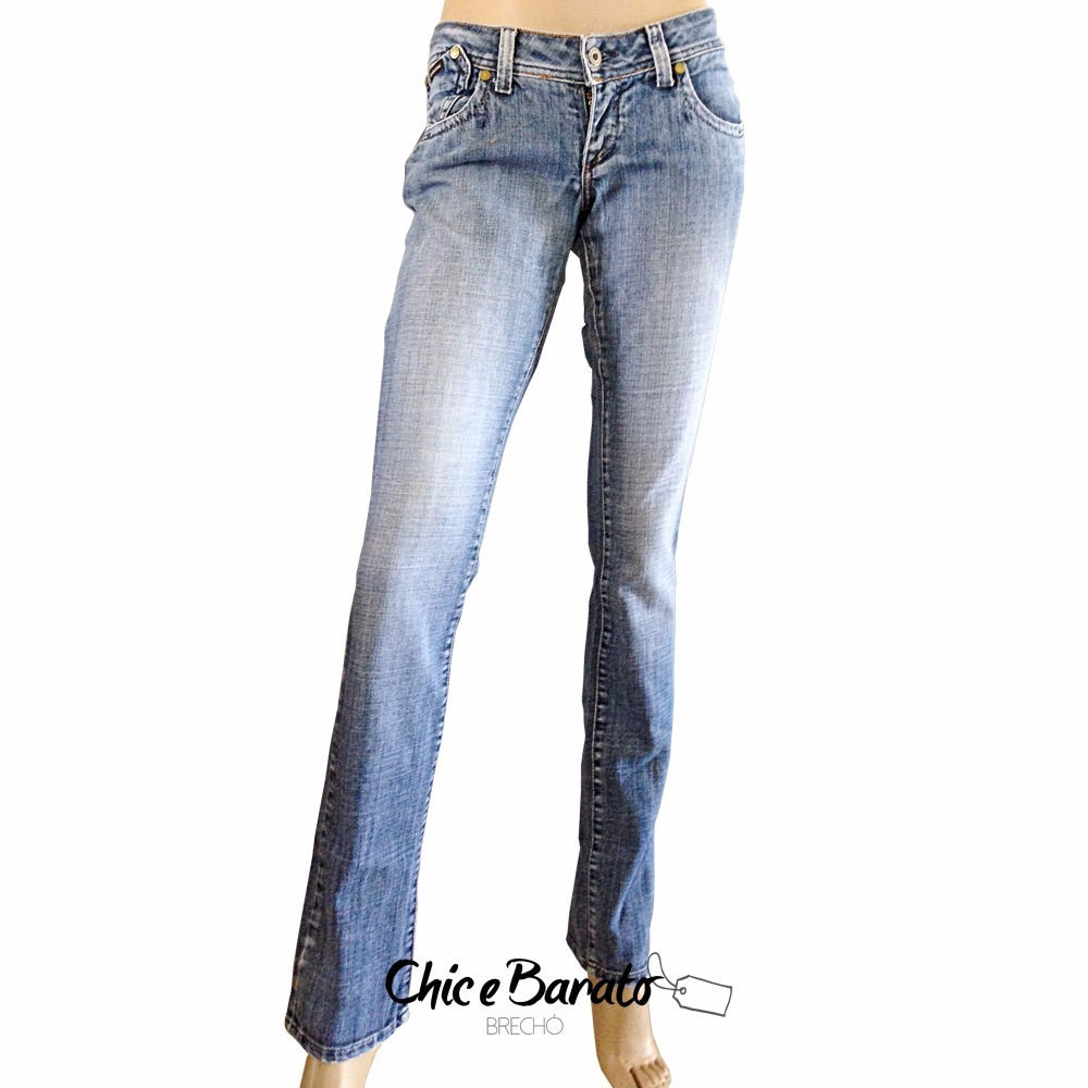 calça jeans feminina calvin klein cintura média - tam 38. Carregando zoom. c8ef4d9c3d