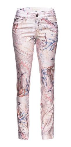 calça jeans feminina cigarrete estampada rosa scalon marie 1