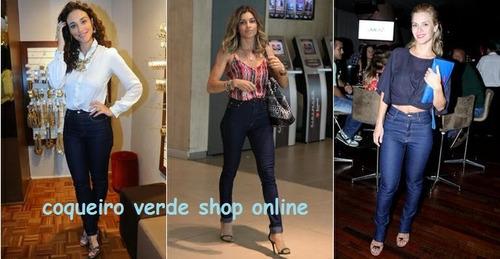 calça jeans feminina, cintura alta, com lycra, mega oferta