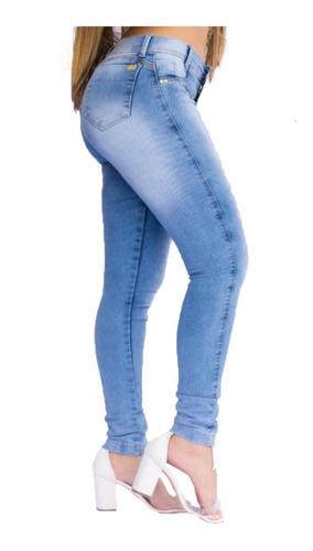 calça jeans feminina cintura alta cós alto empina bumbum
