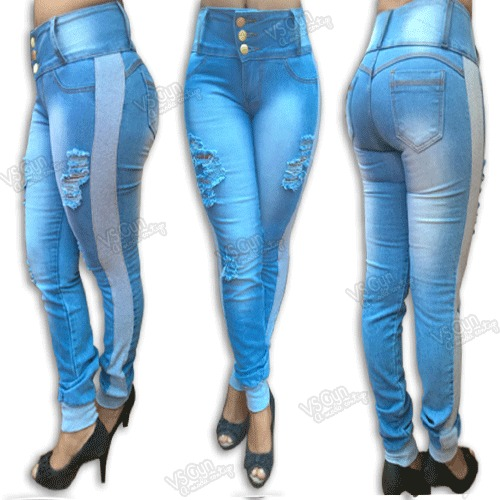 6597fbc32 Calça Jeans Feminina Cintura Alta Destroyed Com Moletom - R$ 89,90 ...