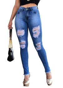 bc4a3fb02 Calça Jeans Feminina - Calças Jeans Feminino no Mercado Livre Brasil