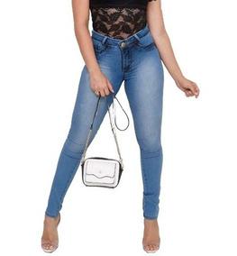 752818d1c8 Calça Jeans Feminina Cintura Alta Hot Pants Estilo Pit Bull