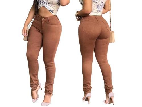 calça jeans feminina cintura alta levanta bumbum hot pants