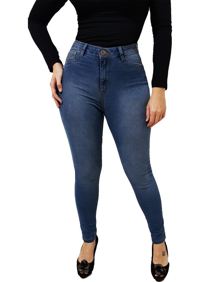 c5515bce9 calça jeans feminina cintura alta luxo premium lycra stretch. Carregando  zoom.