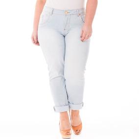 97818ba6590c43 Calça Jeans Feminina Cintura Alta Plus Size Crj319