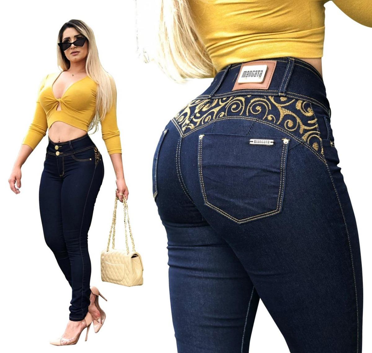 f598426d2465a calça jeans feminina cintura alta premium estilo pitbull. Carregando zoom.