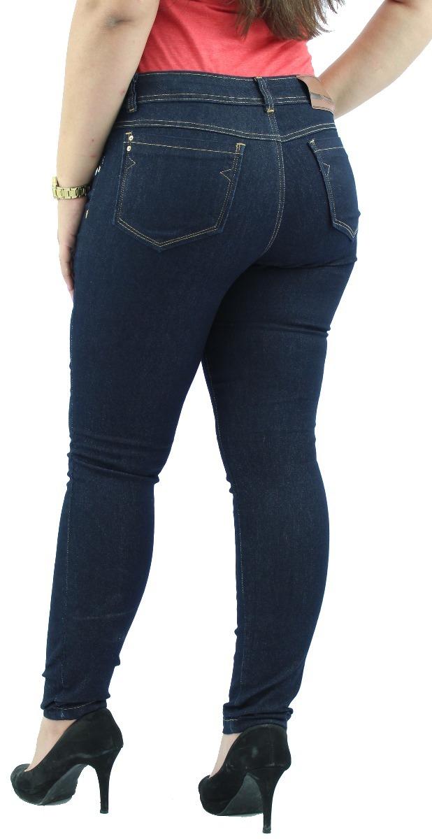f678a4b4c calça jeans feminina cintura alta rasgada denim black. Carregando zoom.