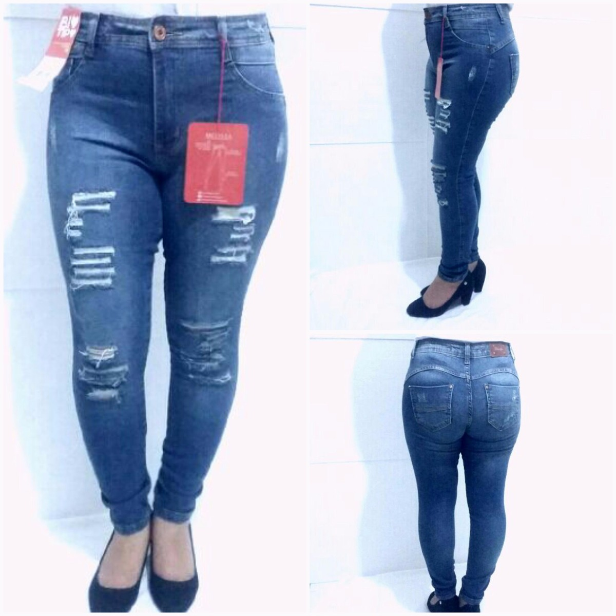 f542dca1a calça jeans feminina cintura média skinny biotipo. Carregando zoom.