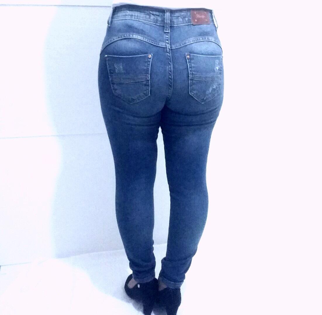 8f0aea10e calça jeans feminina cintura média skinny biotipo. Carregando zoom.