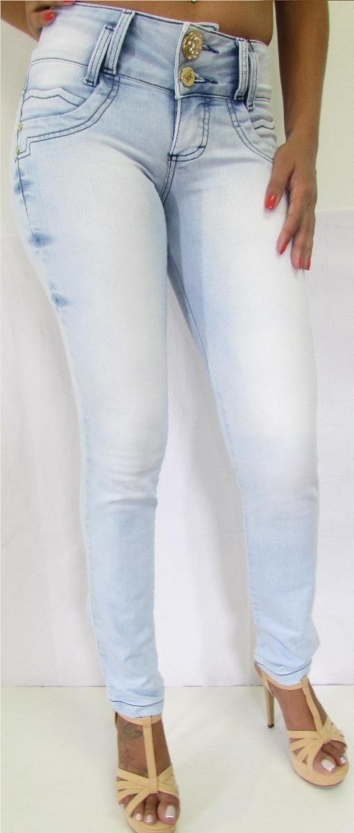 05bef8c5c2 calça jeans feminina clara rasgada top 2017! 1126. Carregando zoom.
