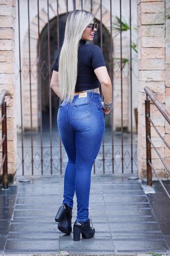 calça jeans feminina com elastano.vizzary jeans!