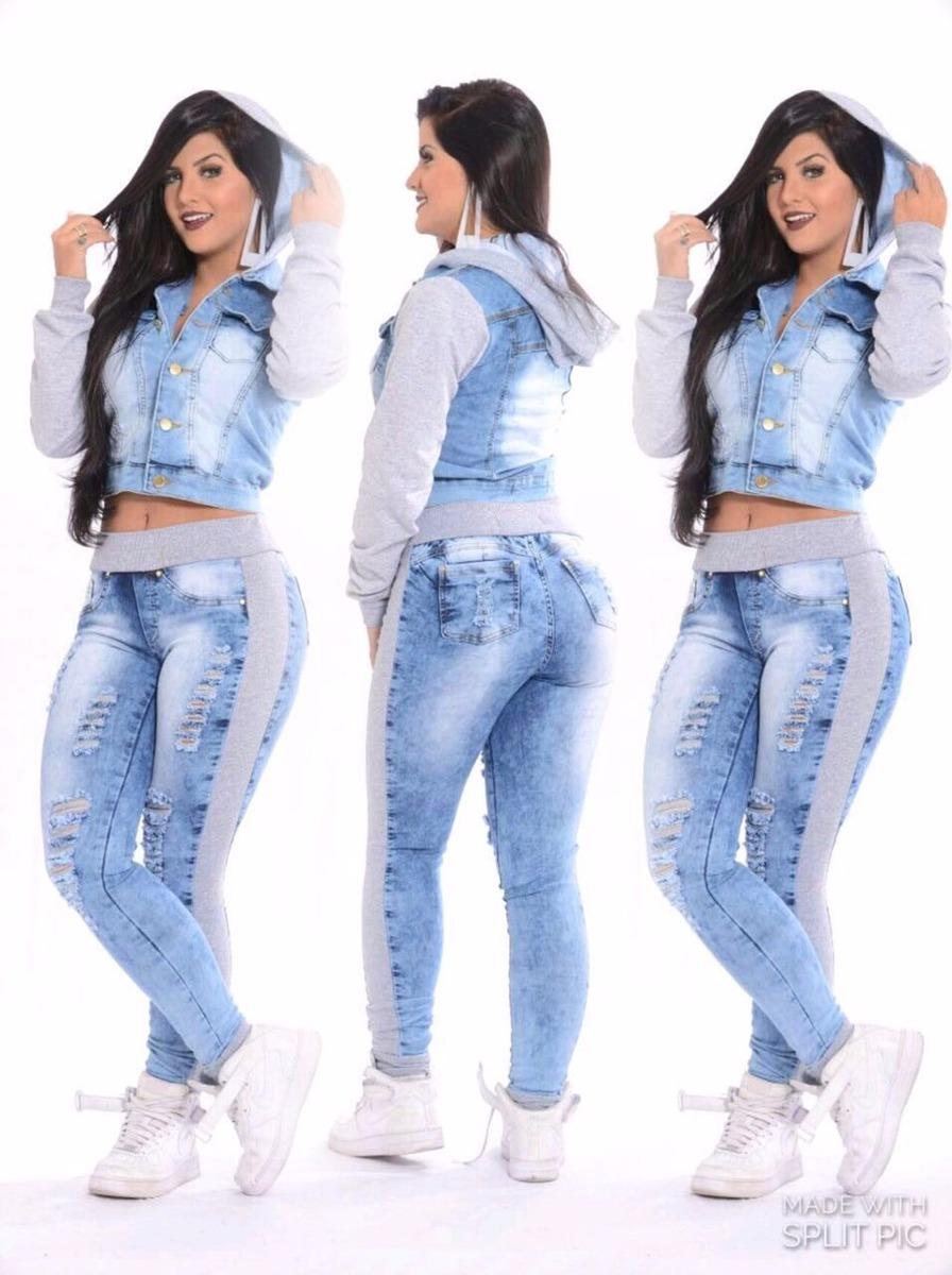 8b003a4e4d calça jeans feminina com moletom ou ribana - pronta entrega. Carregando  zoom.