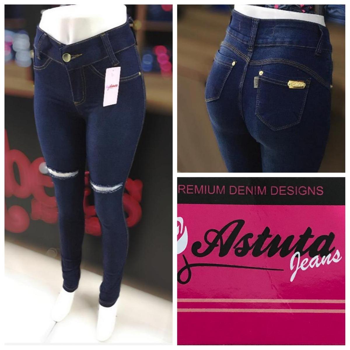 af351cabe Calça Jeans Feminina Cós Alto, Cintura Alta, Astuta. - R$ 49,00 em ...