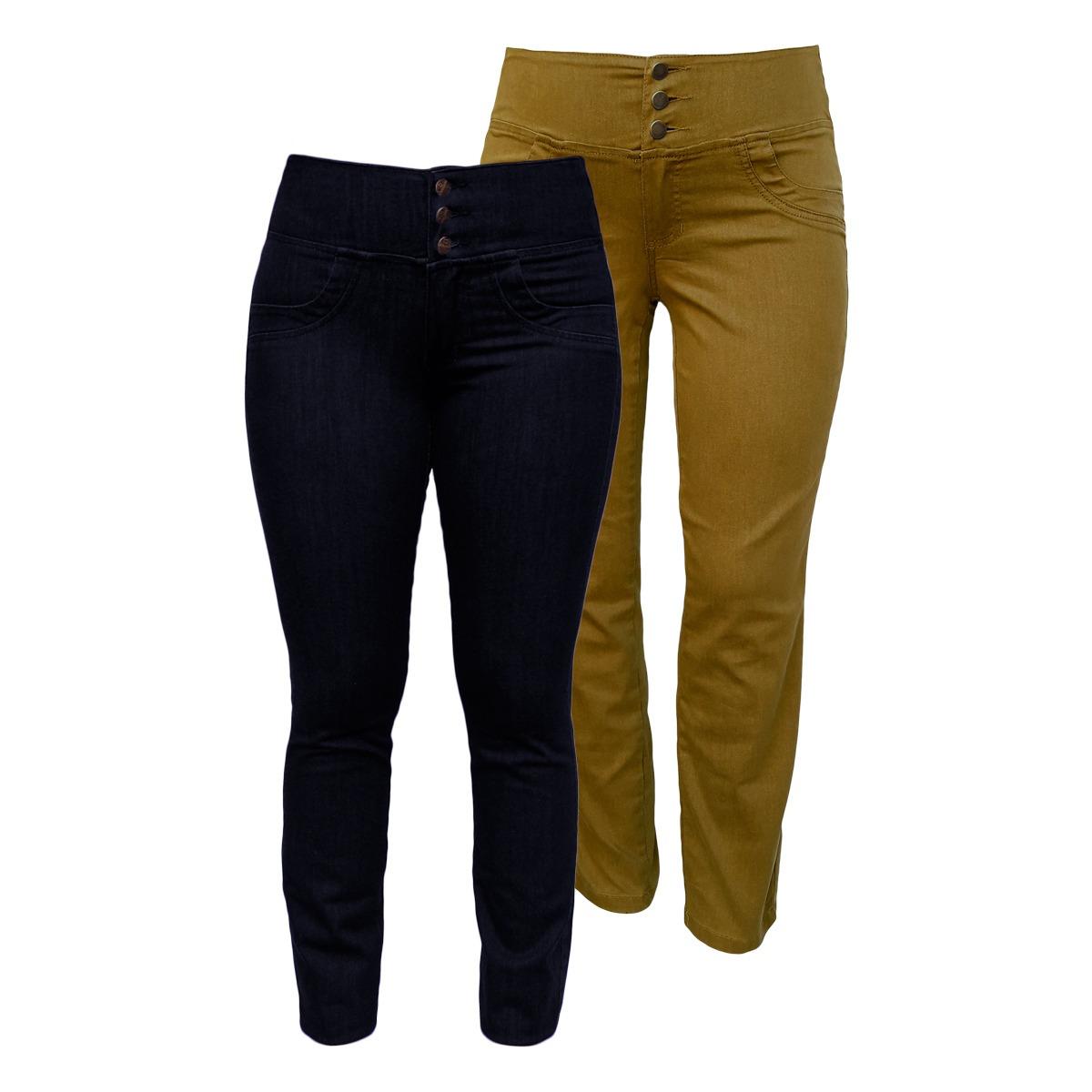 10f57250d calça jeans feminina elástico cós traseiro plus size. Carregando zoom.
