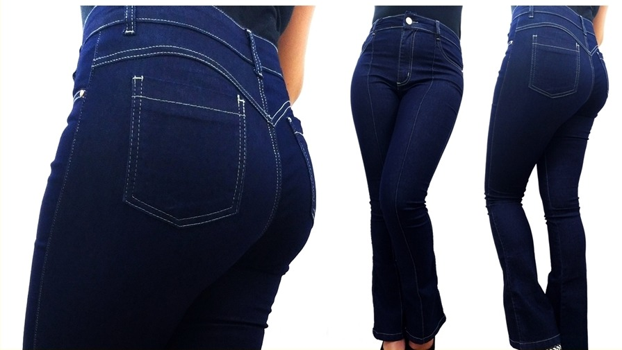 b29a1192a calca jeans feminina flare boca de sino cintura alta linda. Carregando zoom.